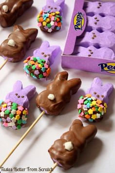 Chocolate-Dipped Peeps - Tastes Better From Scratch