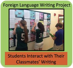 Language Writing Project Foreign (World) Language Writing Project.Foreign (World) Language Writing Project. French Lessons, Spanish Lessons, Spanish 1, Learn Spanish, Learn French, Teaching French, Teaching Spanish, Teaching Activities, Spanish Activities