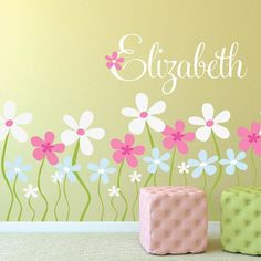 Found it at Wayfair - Field of Flowers Wall Decal