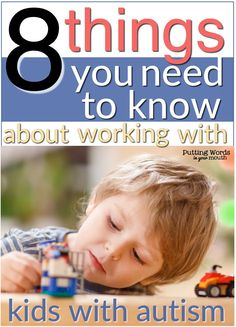 Learn 8 things you need to know about working with children with autism - a must read for special education teachers, speech language pathologists, life skills teachers, and preschool or early interventionists! #autism #asd #learnedhelplessness #prompting #cueing #nonverbal #visualcues #languagetherapy #slpblogger #specialeducation #puttingwordsinyourmouth