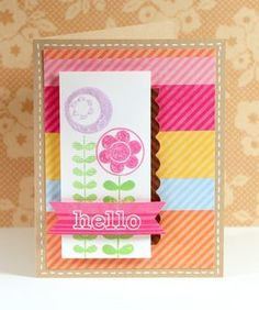 Another cute Kristina Werner card!  Love the colors and the use of patterned paper.