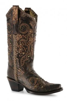 Corral Studs & Whip Stitch Boot R1217