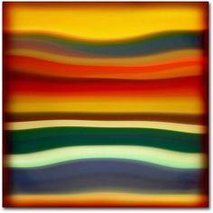 Trademark Fine Art Fury Sea 2 inch Canvas Art by Amy Vangsgard, Size: 24 x 24, Multicolor