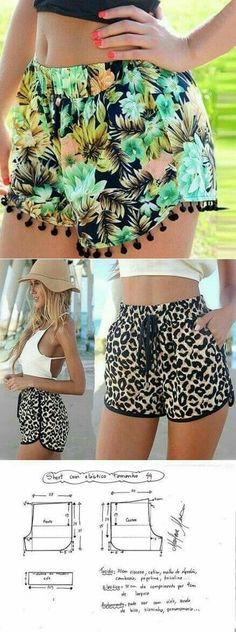 Sewing shorts pattern costura 44 ideas - Welcome to our website, We hope you are satisfied with the content we offer. Shorts Diy, Sewing Shorts, Diy Clothing, Clothing Patterns, Dress Patterns, Sewing Dress, Sewing Clothes, Sewing Diy, Sewing Tools
