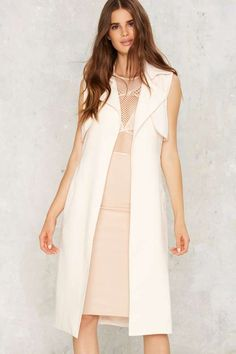 Mixed Messages Sleeveless Trench - The All-Nighters