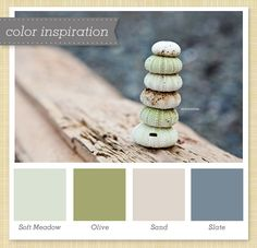 soft green and gray palette | Sarah Hearts - Green, Tan and Gray Color Palette 45