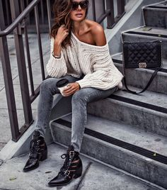 Sunday's Slouchy Sweater FASHIONED|CHIC