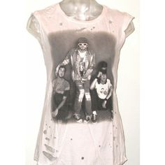 6ea431c5ee2c9 Distressed Nirvana tee by Rocker Rags. Perfect for these hot spring days.  Free shipping