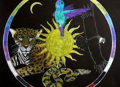 The Four Directions, Inti Tai Tai and Mamma Killya Native American Tools, American Artists, Spiritual Healer, Shaman Healing, Native American Spirituality, Animal Medicine, Hummingbird Art, Medicine Wheel, Sun Art