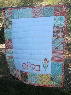 patchwork name quilt