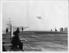 HMS Ark Royal, USS Independence and an RA-5 Vigilante.