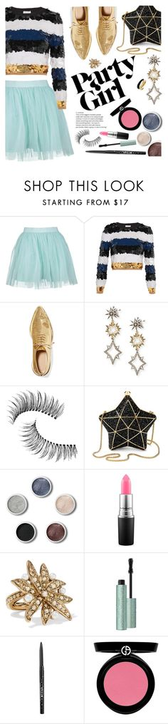 """Party Girl"" by ivansyd ❤ liked on Polyvore featuring Boohoo, Sonia Rykiel, Simone Rocha, Lulu Frost, Trish McEvoy, Aspinal of London, Terre Mère, MAC Cosmetics, Oscar de la Renta and Stila"