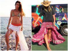 Falda asimétrica Free Love Ibiza