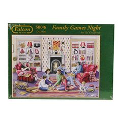 Jumbo A Family Games Night Jigsaw Puzzle Pieces) Family Game Night, Family Games, Goldfinch, Jigsaw Puzzles, Recycling, Baseball Cards, Children, Illustration, Artwork