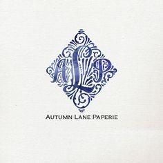 Customizable Logo Design  Ornate Initials  by AutumnLanePaperie