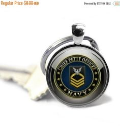 ON SALE Military Serie Glass Cabochon Silver keyring V34