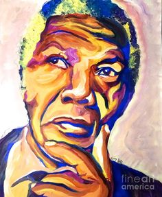 Nelson Mandela Thoughts Painting by LLaura Burge