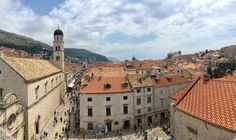 Walking the city walls in Old Town Dubrovnik!