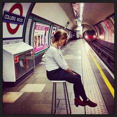 #tube #photoftheday #kooky #londoners bring their own #bar stools on the #underground!  https://itunes.apple.com/gb/app/kooky-london/id625209296?mt=8 #KookyLondon #picoftheday #photography #hotgirl #uk #england #ig_london #iglondon #london_only #londonist #timeoutlondon #greatbritain #britain get the #kookylondon App in my Bio - with new features! #Padgram