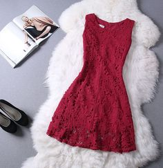 The new round neck lace sleeveless dress BFD51621RE