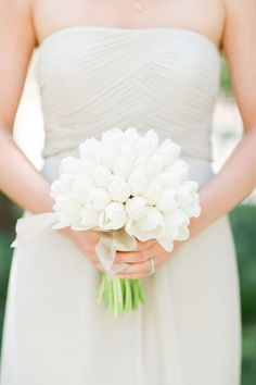White-Tulip-Bridesmaids-Bouquet