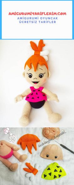 Amigurumi Gravel Baby Recipe - My Amigurumi Recipes Amigurumi Toys, Amigurumi Patterns, Baby Knitting Patterns, Amigurumi For Beginners, Crochet Disney, Diy Crafts To Do, Crochet Dolls, Crochet Lovey, Barbie