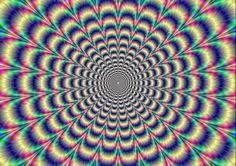Picture of Psychedelic Pulse Digital abstract image with a psychedelic circular pattern of blue red yellow green and purple producing an optical illusion of movement stock photo, images and stock photography. Big Bang, Projector Photography, K Dick, Acid Trip, Circular Pattern, Panel Wall Art, Abstract Images, Lewis Carroll, John Lennon