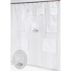 Clear Shower Curtain Liner With Pockets