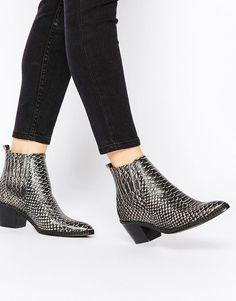 H+by+Hudson+Celeste+White+Snake+Ankle+Boots