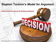 ARGUMENT WRITING - Intro to the Toulmin Model for Argument  Components:   8 Individual Practice Prompts,  1 Partner Practice Guide,   ARGUMENT WRITING v. PERSUASIVE WRITING CHEAT SHEETS,    Quotes from the Pros,   Presentation Tips,    Objectives and Standards (priced item)
