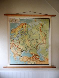 vintage wall chart Dutch educational poster with by AtticAntics