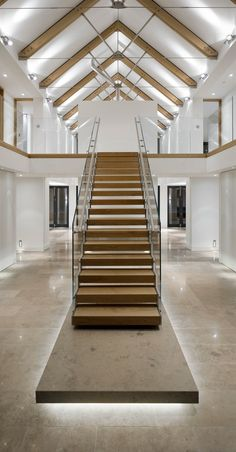 Falling in love all over again - this modern staircase with glass balustrade is one of our favourites. Interior Design Inspiration right here...
