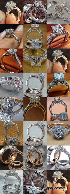 29 Stunning Verragio Diamond Engagement Rings - Style Estate Solitaire is a kind of Unique Diamond Engagement Rings, Shop Engagement Rings, Engagement Ring Styles, Diamond Wedding Bands, Diamond Rings, Halo Diamond, White Topaz Rings, Bridal Rings, Wedding Rings