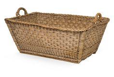 Vintage French Basket on OneKingsLane.com,Melanie Turner Interiors