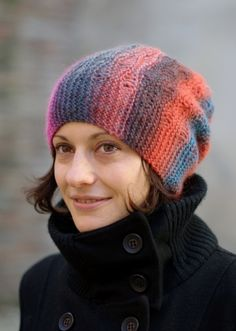 Woolly Wormhead - Tebe Slouch - slouchy Hat knitting pattern Make: Knittari...