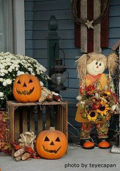 This scarecrow is just too cute!