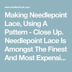 Making Needlepoint Lace, Using A Pattern - Close Up. Needlepoint Lace Is Amongst The Finest And Most Expensive Of 19th Century Products Of Brussels, Belgium. Videos de metraje en stock 4208074 - Shutterstock