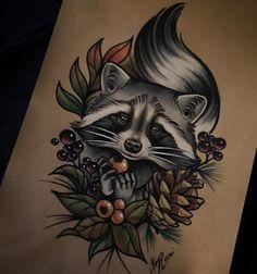 Анималистичные татуирвки и эскизы | 281 фотография