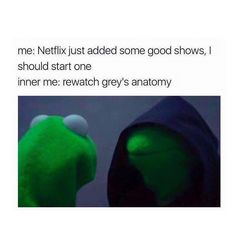 Me: Netflix just added some good shows, i should start one Inner me: Re-watch Grey's Anatomy. No no no Re-watch Pretty Little Liars. NO re-watch Charmed. Inner me is now having a big argument on what i should now re-watch Greys Anatomy Couples, Greys Anatomy Facts, Grey's Anatomy, Owen Hunt, Dark And Twisty, Grey Stuff, Cristina Yang, Meredith Grey, Beautiful Day