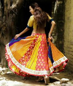 Flowing Ghagra skirt by Benu Bhatnagar