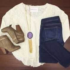 Torn Away Sweater $35.00 for fall