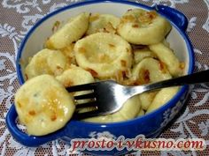 Lazy dumplings with potatoes - it's so tasty and fast!- Lazy dumplings with potatoes – it's so tasty and fast! Slovak Recipes, Russian Recipes, Vegetarian Recipes, Cooking Recipes, Healthy Recipes, Cooking Forever, Bolet, Good Food, Yummy Food