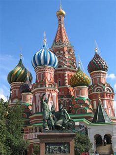 Moscow! St. Basils Cathedral is such a gorgous building. Onion domes and hundred year old wood carving.