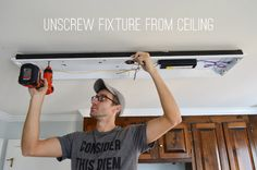 Replacing a Florescent Light | Young House Love