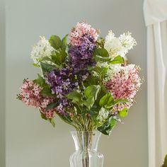 Found it at Wayfair - Glenham Lilac Silk Flower Arrangement
