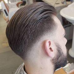 Long Fade Haircut, Best Fade Haircuts, Guy Haircuts Long, Retro Hairstyles, Hairstyles With Bangs, Long Hair Cuts, Long Hair Styles, Beard Model, Bald Fade