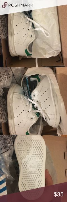 Adidas stan smith Brand new in box adidas toddler stan smith.  White/green.  Size 5k adidas Shoes Sneakers
