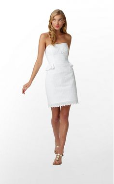 Lilly Pulitzer Maybell Dress in Sweet Daisy Eyelet Resort White $238.00