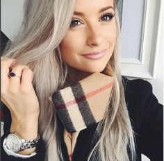 The beautiful Victoria from @inthefrow wearing my amethyst Maya ring. In The Frow