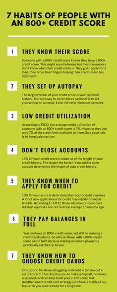 Need to repair your credit? If you're buying a home a low credit score can save you thousands. Here's the 7 habits of people with an 800+ credit score.